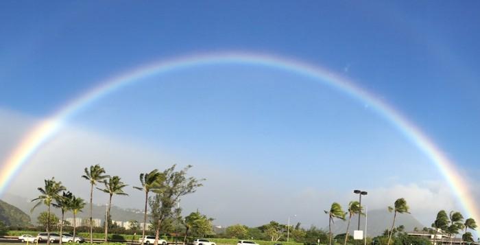 A rainbow over Hawaii Kai