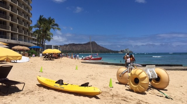 Waikiki looking toward Diamond Head
