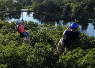 Ziplines in nature are common on the mainland and neighbor islands.