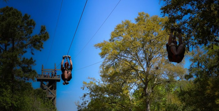 Residents fear nature ziplines like this one would bring traffic and congestion.