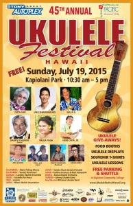 the poster for the 45th Annual Ukulele Festival