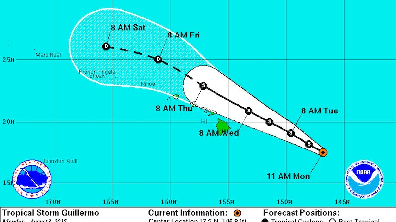 Tropical Storm Guillermo Forces Closures