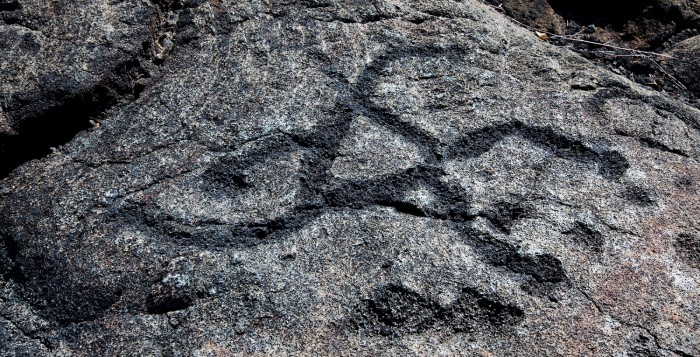 petroglyph carved into a rock
