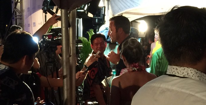 alex o'laughlin at the hawaii five-o premiere