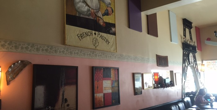 wall decor in jj bistro and french pastry