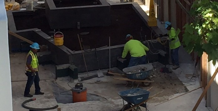 construction workers at ala moana center