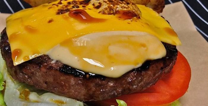 a teriyaki kim chee burger