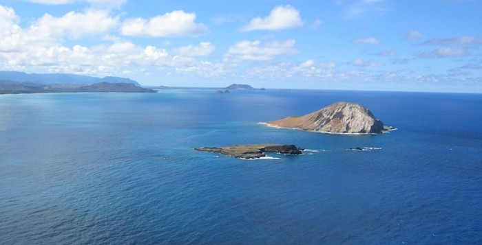 a view of rabbit island in hawaii