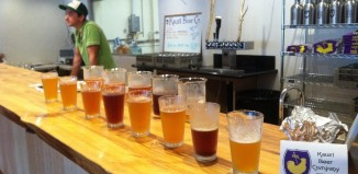 a line of beers