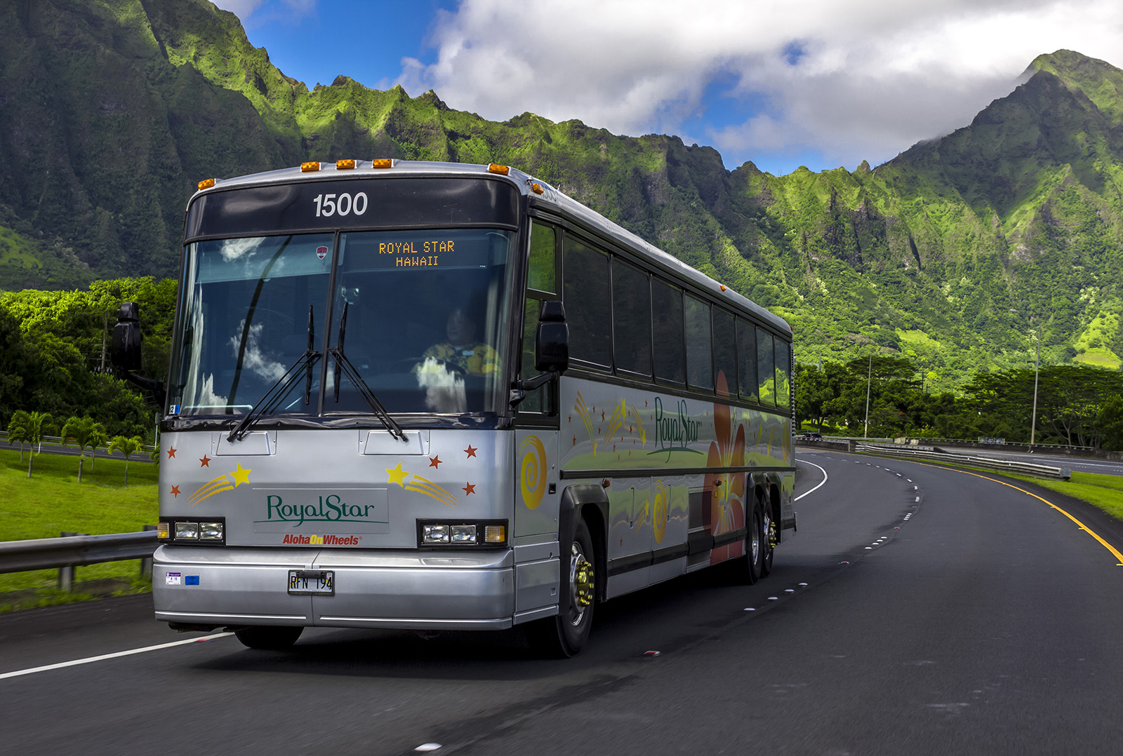 a Royal Star Hawaii bus