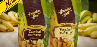 2 6oz bags of Hawaiian Host Tropical Fruit Snacks