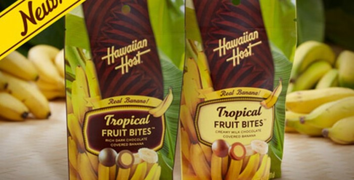 2 6oz bags of Hawaiian Host Tropical Fruit Snacks