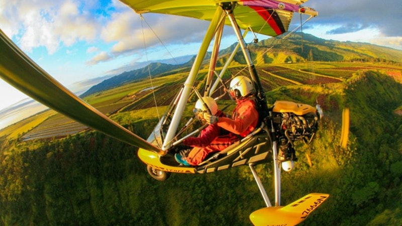 Soar Above Oahu in a Powered Hang Glider