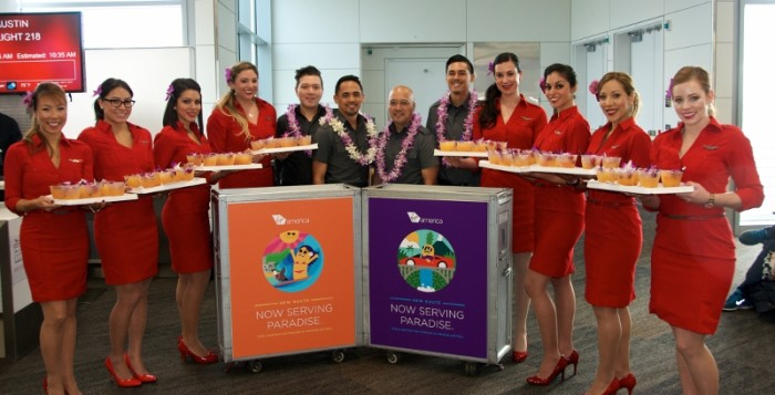 flight attendants and airport personnel at the honolulu international airport