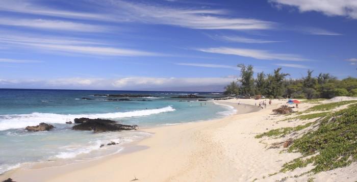 a beach near kailua-kona on the big island