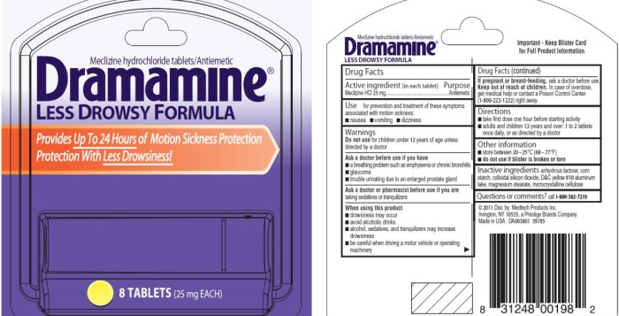 an ad for dramamine