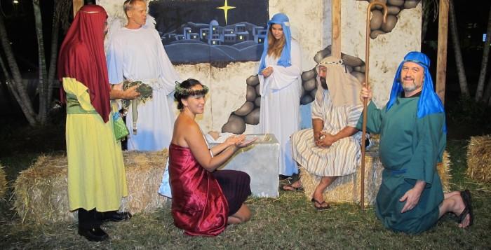 a live nativity scene