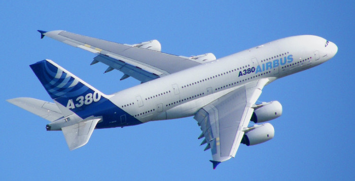 airbus A380 in flight