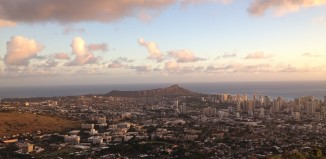 a view of oahu and diamond head