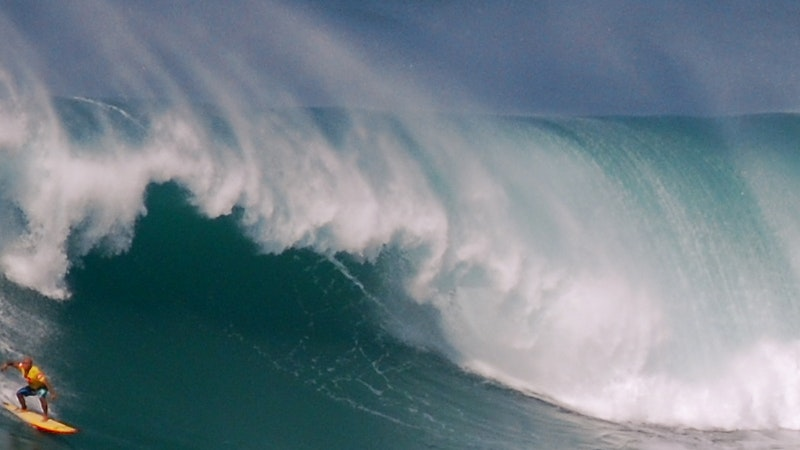 The Eddie Aikau DID Go! Hawaii Big Wave Surf Contest Held at Waimea Bay