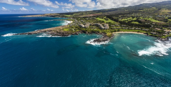 kapalua on maui aerial