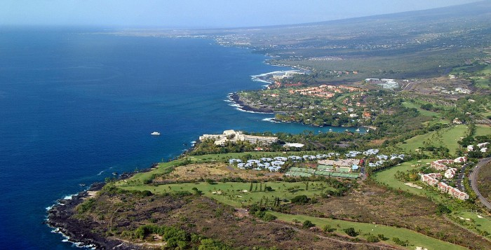 keauhou resort on the big island aerial
