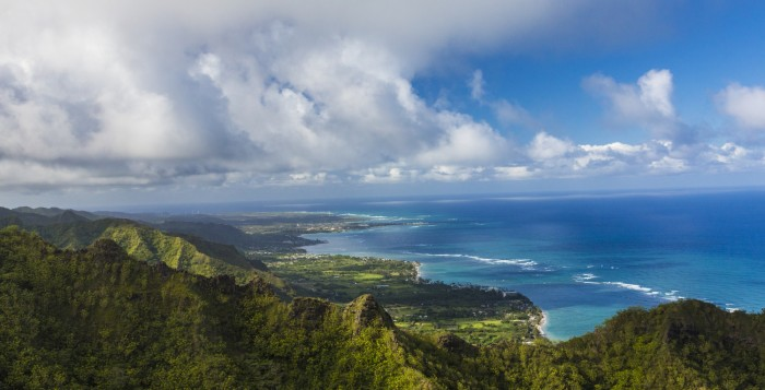 a view of the windward side of oahu
