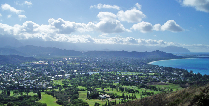 an aerial view of Kailua