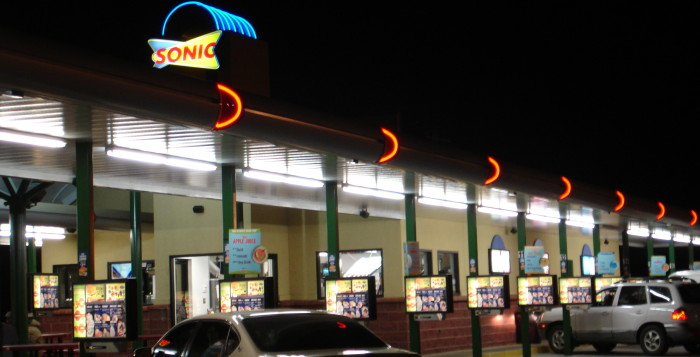 an outside shot of sonic drive-in