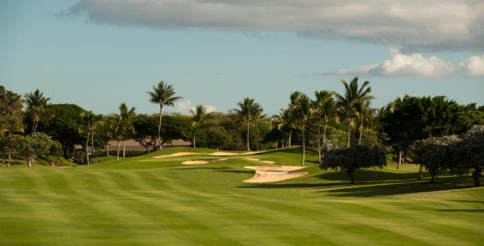 a golf course at ko olina on oahu