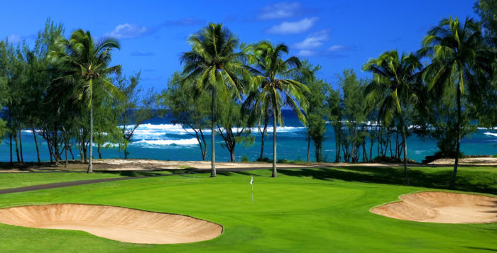 a golf course at turtle bay resort on oahu