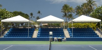 tennis courts at the hilton waikoloa village