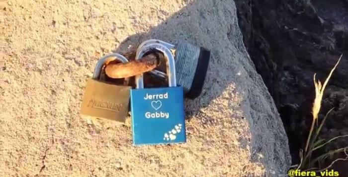 locks on a rock