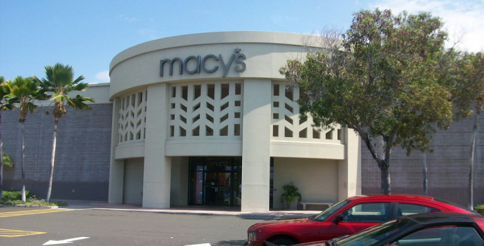 the exterior of macy's