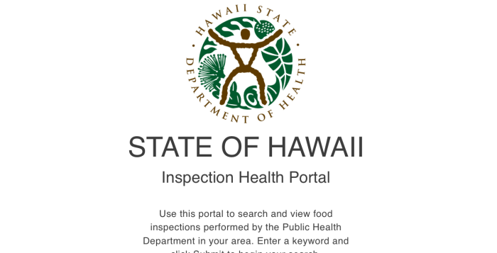 a logo for the hawaii department of health