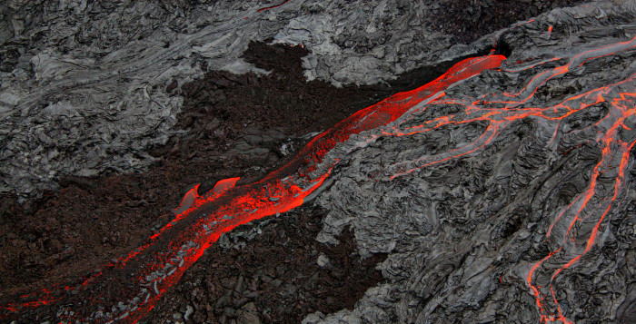 lava coming out of volcanic rock