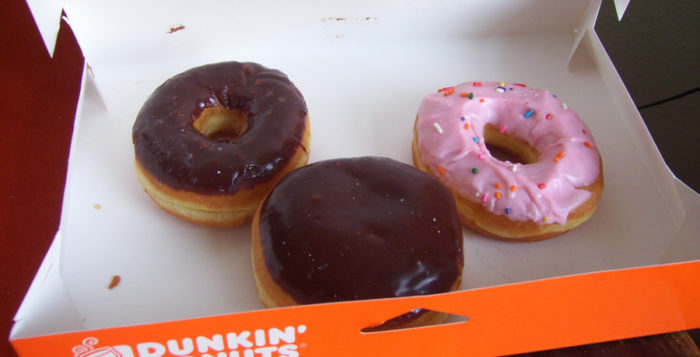 a box of dunkin donuts donuts