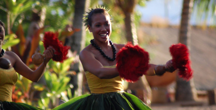 a female hula dancer