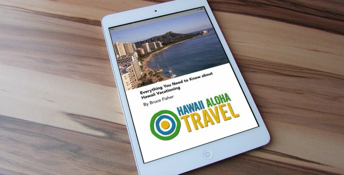Hawaii Aloha Travel eBook on iPad