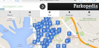 a screenshot of a parking website