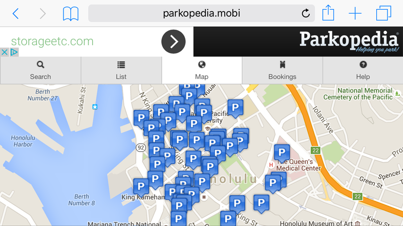 Nowhere to Park in Honolulu?  Our Top Three Parking Websites