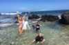 kids in a series of tide pools