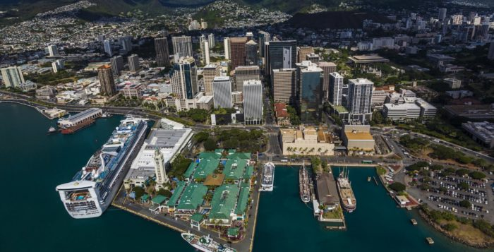 a view of honolulu harbor