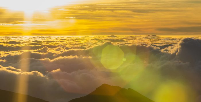 sunrise at haleakala in hawaii
