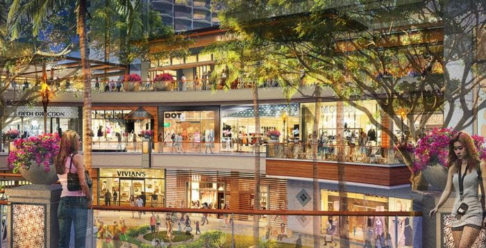 a rendering of the new international market place in waikiki