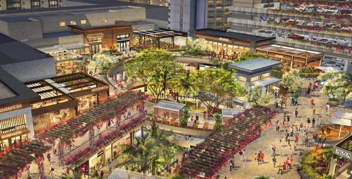 a rendering of the new international market place
