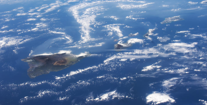 an aerial view of Hawaii