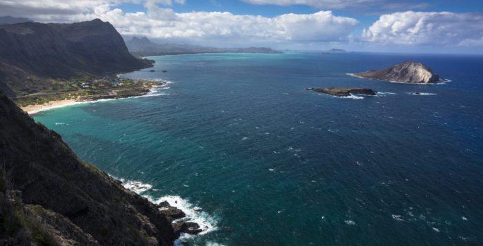 a scenic view of oahu's windward coast