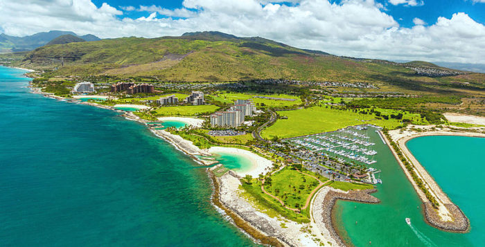 an aerial view of ko olina