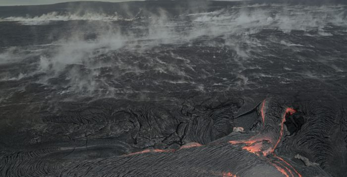 lava from the kilauaea crater on hawaii's big island